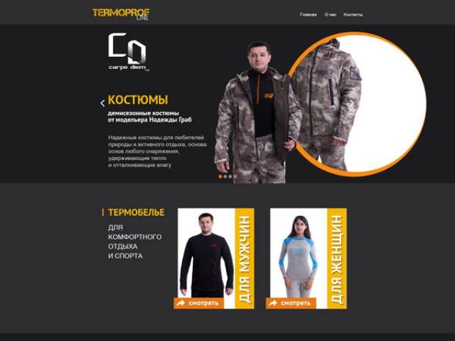 Макет дизайна сайта интернет магазина  carpe-diem.net.ua